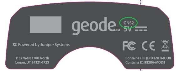 Geode GNS2 label