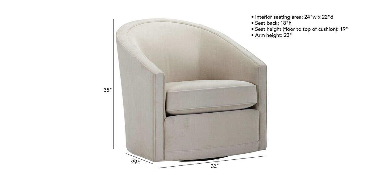 Baylee Barrel Back Swivel Chair, Modern Swivel Bucket Chairs