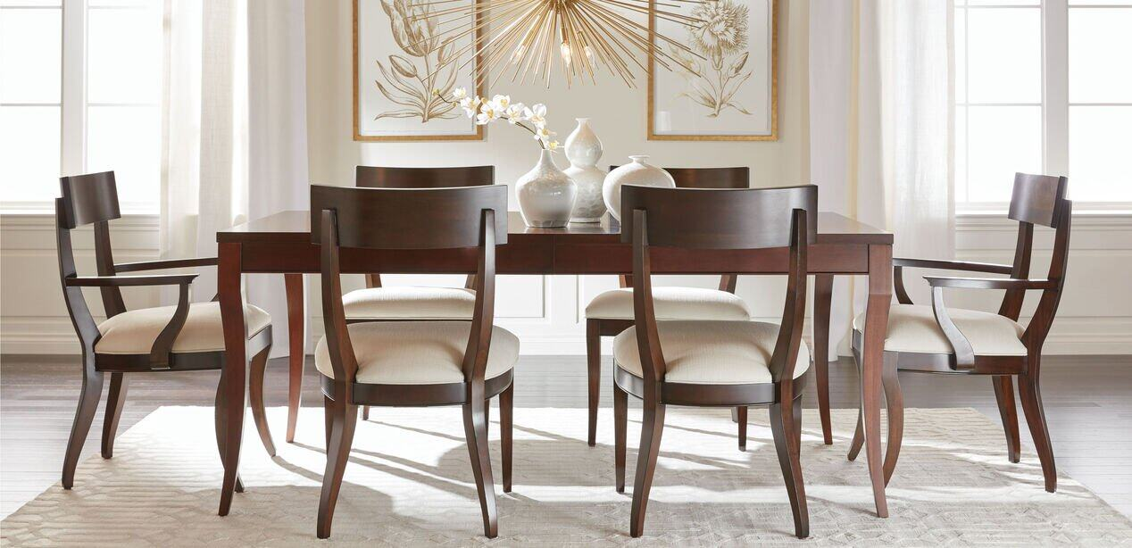 Barrymore Dining Table Tables, Ethan Allen Dining Room Chairs