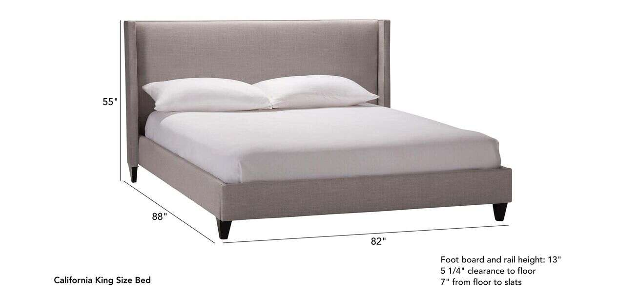 Colton Bed Beds Ethan Allen, Queen Size Bed Rail Dimensions