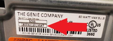 Finding The Serial Number On A Genie Garage Door Opener The Genie Company