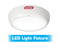 Bluetooth LED light fixture that is included with the wall mount garage door opener