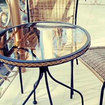 Glass Patio Table Tops Dulles, Round Glass Patio Table