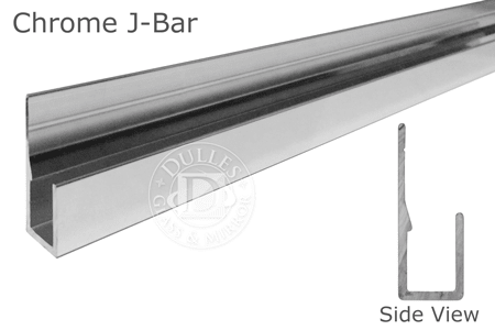 J Bar Mirror Support Dulles Glass And, How To Hang A Large Unframed Mirror