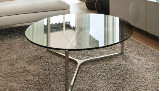 45 Round Glass Table Top Dulles, Round Glass Table Top 42