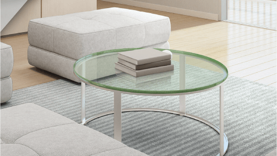 25 Round Glass Table Top Dulles, 25 Inch Round Glass Table Top
