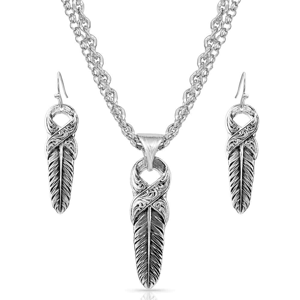 Strength Within Feather Jewelry Set