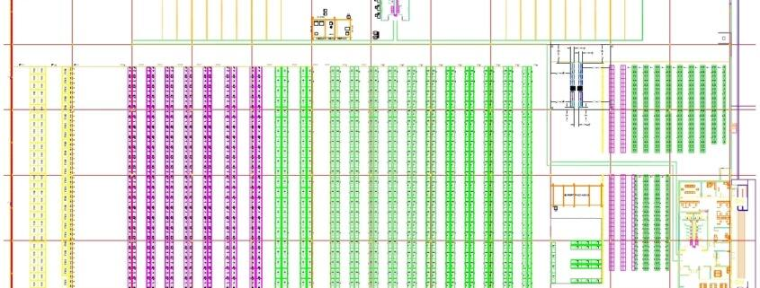 CAD drawing of a Mexico warehouse