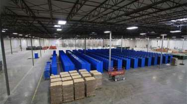 warehouse interior for an auto manufacturer