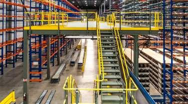 platform inside warehouse for a food distributor