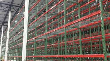 Interior of warehouse for healthcare supply distribution center