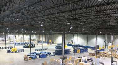 warehouse interior for a manufacturer