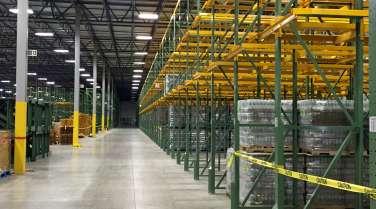 warehouse interior for new england bottling plant