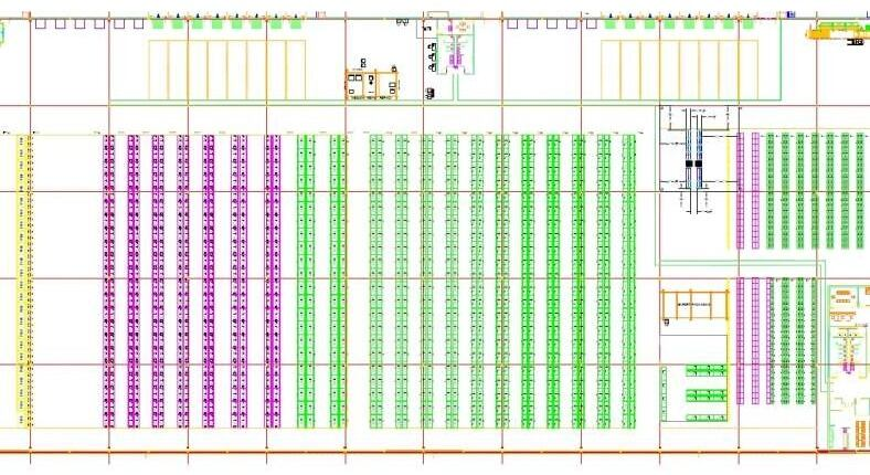 CAD drawing for manufacturing plant