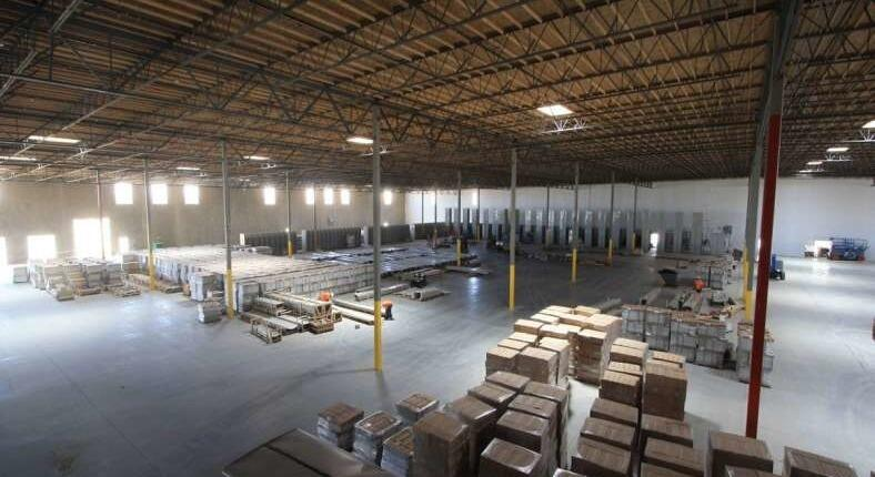 large warehouse with lots of boxes