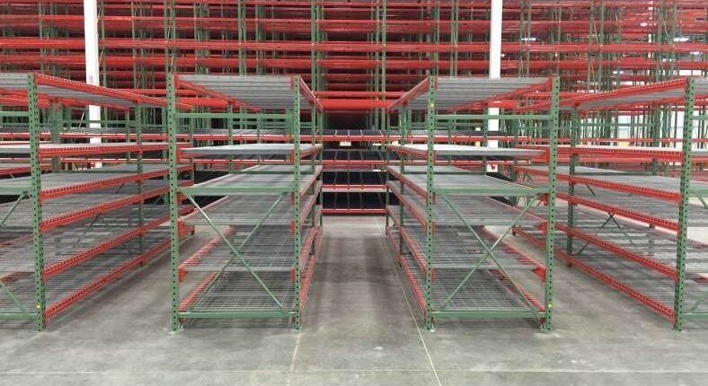 shelving in warehouse