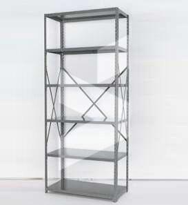 open steel shelving unit