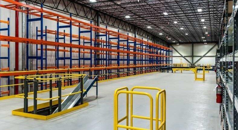 food distributor warehouse empty