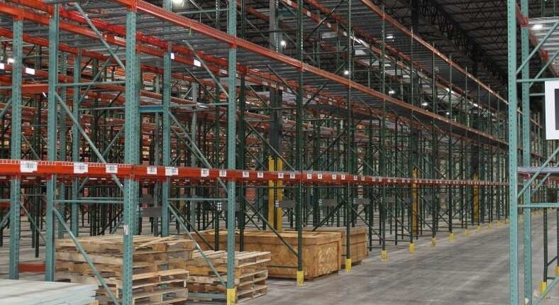 warehouse in indy shelving