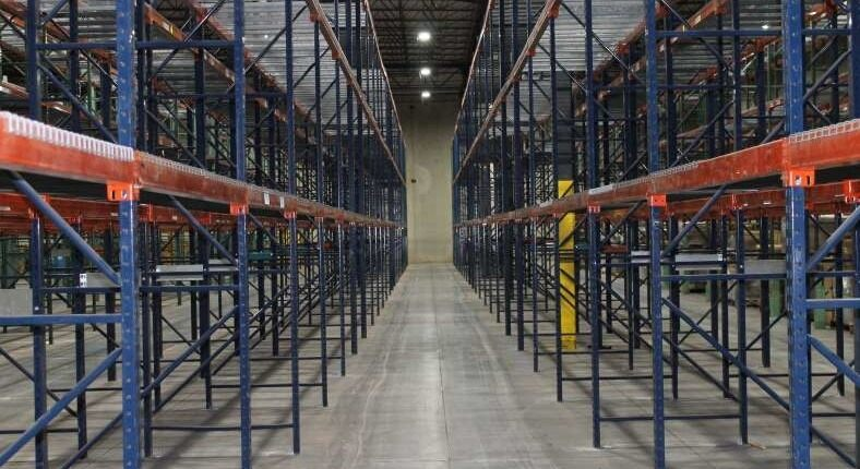 warehouse in Indianapolis shelving