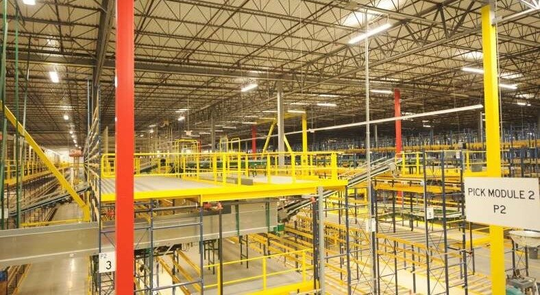 large warehouse with shelving