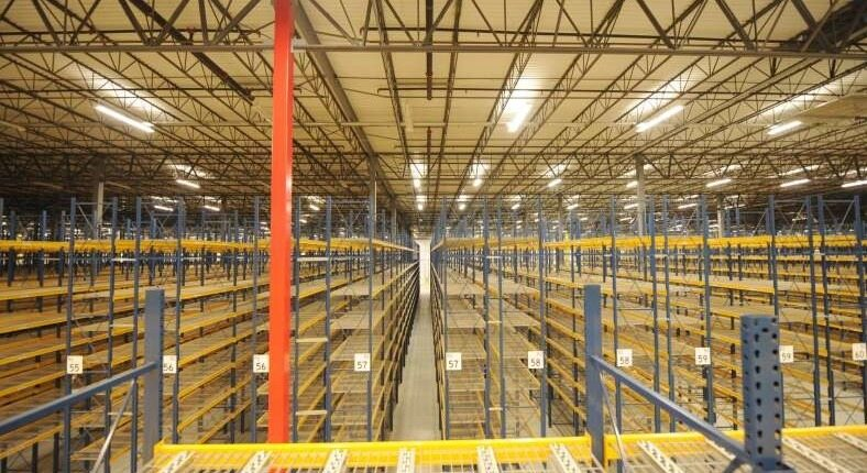 warehouse with shelving