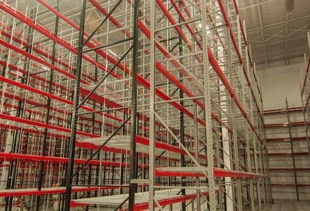 Warehouse closeup shelving