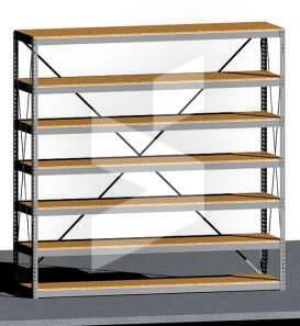 open rivet shelving