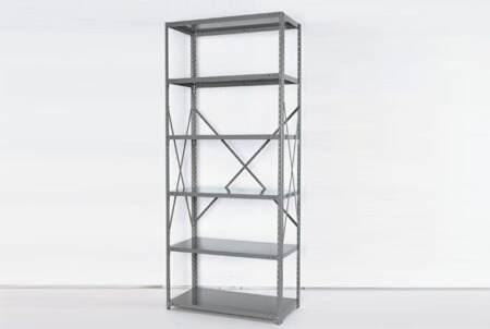 open steel shelving