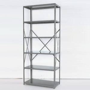 open steel shelving