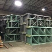 used pallet rack in a warehouse