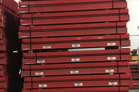 used red pallet rack