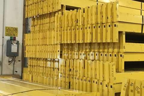 yellow rack