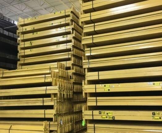 yellow stacked rack