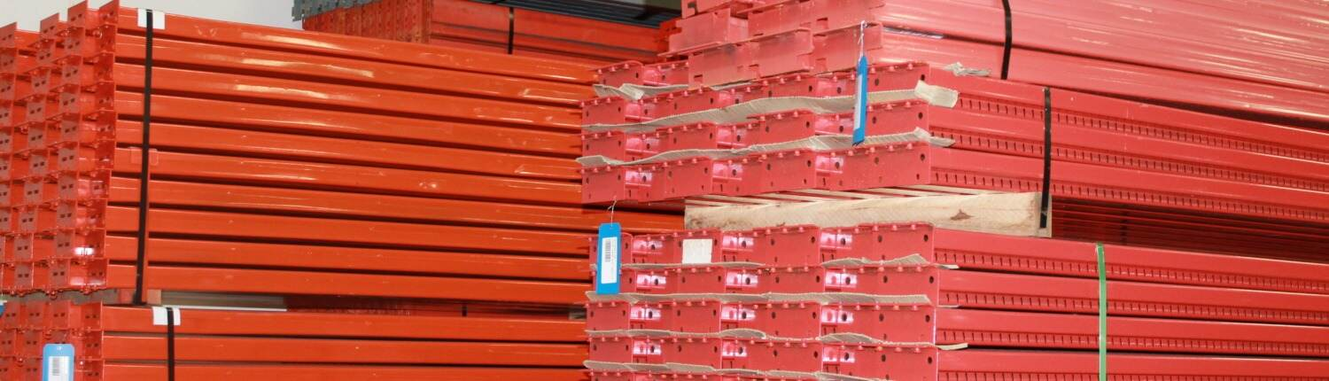 pallet rack stacked