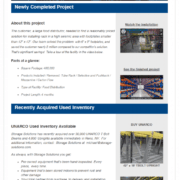 projects and used inventory