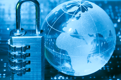 lock and cyber threat