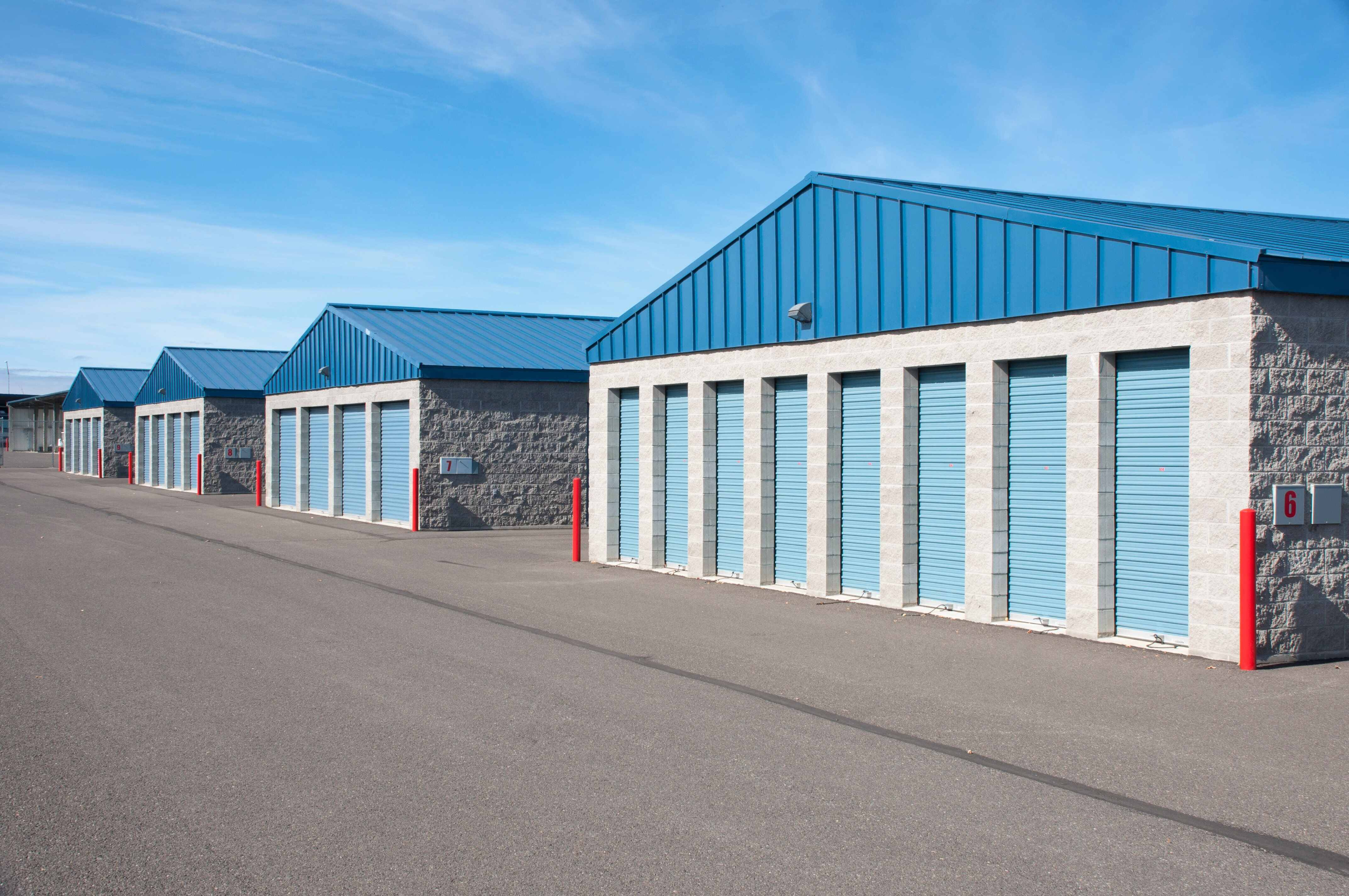 self storage facility with multiple units