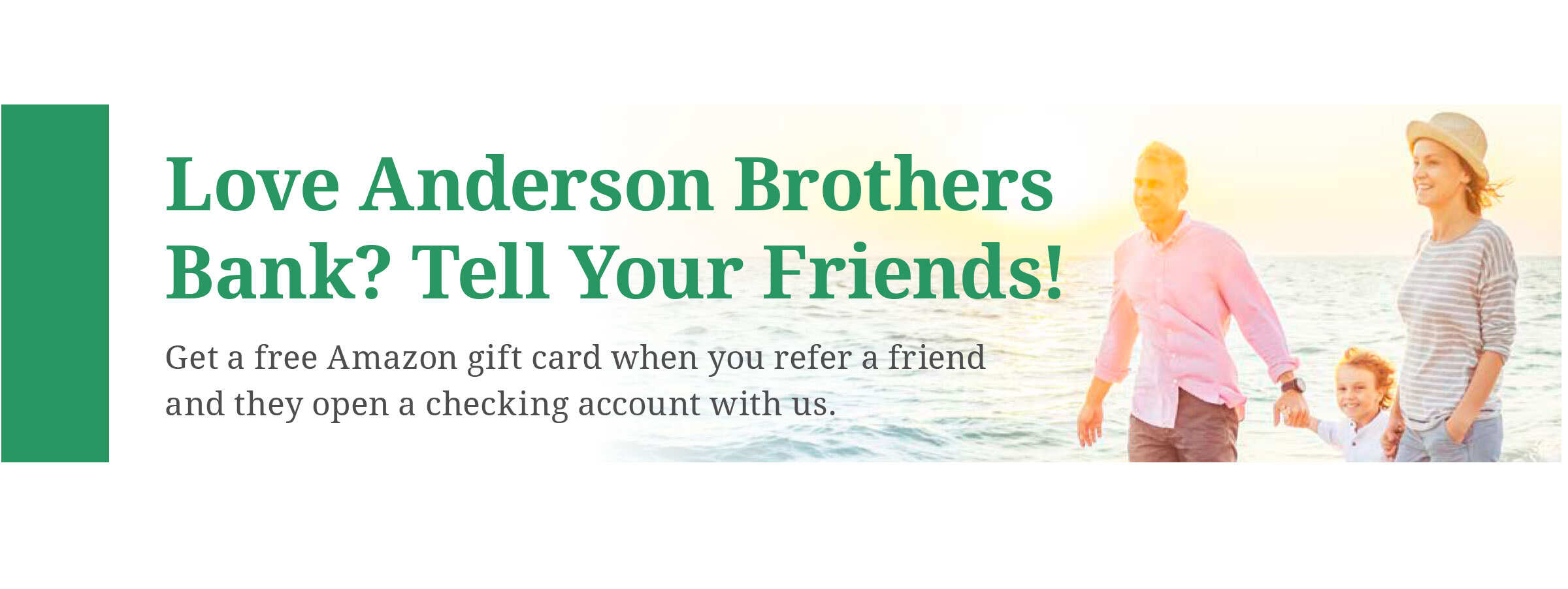 Referral message for ABB. Tell your friends about ABB and get a gift card.